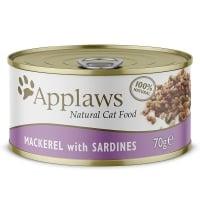 APPLAWS, File Macrou și Sardine, conservă hrană umedă pisici, (în supă), 70g