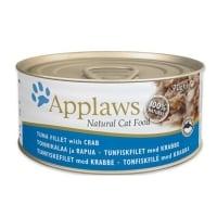 APPLAWS, File Ton și Crab, conservă hrană umedă pentru pisici, (în supă), 70g