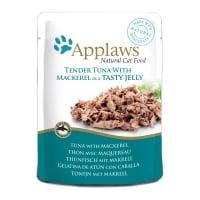 APPLAWS, File Ton și Macrou, plic hrană umedă pisici, (în aspic), 70g