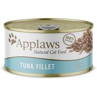 APPLAWS, File de Ton, conservă hrană umedă pisici, (în supă), 70g