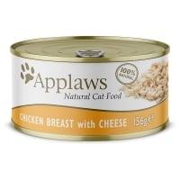 APPLAWS, Piept Pui și Brânză, conservă hrană umedă pisici, (în supă), 156g