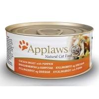 APPLAWS, Piept Pui și Dovlecel, conservă hrană umedă pisici, (în supă), 70g
