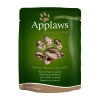 APPLAWS, Piept Pui și Sparanghel, plic hrană umedă pisici, (în supă), 70g