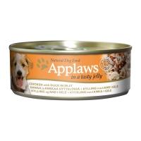 APPLAWS, Pui și Rață, conservă hrană umedă câini, (în aspic), 156g