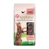 APPLAWS, Pui și Somon, hrană uscată pisici, 2kg