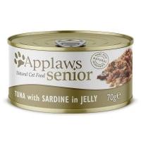 APPLAWS Senior, Sardine, conservă hrană umedă pisici Senior, (în supă), 70g