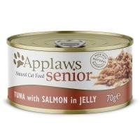 APPLAWS Senior, Ton și Somon, conservă hrană umedă pisici Senior, (în supă), 70g