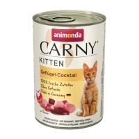 CARNY, Junior, Cocktail Pasăre, conservă hrană umedă pentru pisici, (In aspic), 400g