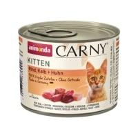CARNY, Junior, Vită, Vițel și Pui, conservă hrană umedă pentru pisici, (In aspic), 200g