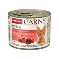 CARNY, Junior, Vită și Inimă Curcan, conservă hrană umedă pentru pisici, (In aspic), 200g