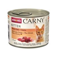 CARNY, Junior, Vită și Pui, conservă hrană umedă pentru pisici, baby-pate, (In aspic), 200g