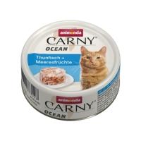 CARNY Ocean, Ton și Fructe de Mare, conservă hrană umedă pentru pisici, (In aspic), 80g