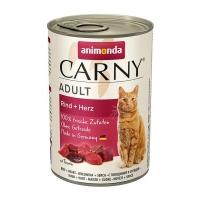 CARNY, Vită și Inimă, conservă hrană umedă pentru pisici, (In aspic), 400g