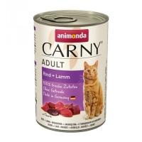 CARNY, Vită și Miel, conservă hrană umedă pentru pisici, (In aspic), 400g