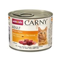 CARNY, Vită și Pui, conservă hrană umedă pentru pisici, (In aspic), 200g