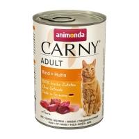 CARNY, Vită și Pui, conservă hrană umedă pentru pisici, (In aspic), 400g