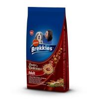 BREKKIES Delicious, Vită, pachet economic hrană uscată câini, 12kg x 2