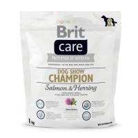 BRIT Care Dog Show Champion, Somon, hrană uscată câini, piele și blană, 1kg