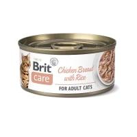 BRIT Care Fillets, Pui cu Orez, conservă hrană umedă conținut redus cereale pisici, (în suc propriu), 70g