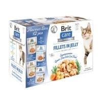 BRIT Care Flavour Box Fillet In Gravy, 4 arome, plic hrană umedă fără cereale pisici, (în sos), 85g x 12