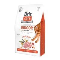 BRIT Care Indoor Anti-Stress, Pui, hrană uscată fără cereale pisici, antistres, 400g