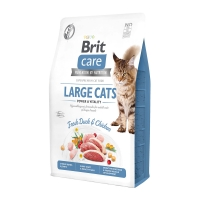BRIT Care Large Cats Power & Vitality L-XL, Rață și Pui, hrană uscată fără cereale pisici, 7kg