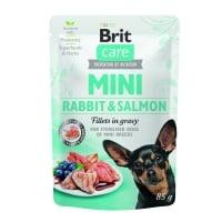 BRIT Care Mini, XS-S, File Iepure și Somon, plic hrană umedă câini, (în sos), 85g