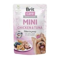 BRIT Care Mini, XS-S, File Pui și Ton, plic hrană umedă câini, (în sos), 85g