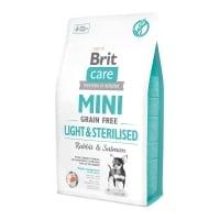 BRIT Care Mini Light & Sterilised, XS-S, Iepure, hrană uscată fără cereale câini sterilizați, 2Kg