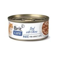 BRIT Care Pate, Vită cu Măsline, conservă hrană umedă conținut redus cereale pisici, (pate), 70g