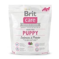 BRIT Care Puppy S-XL, Somon cu Cartofi, hrană uscată fără cereale câini junior, 1kg