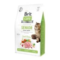 BRIT Care Senior Weight Control, Pui, hrană uscată fără cerele pisici senior, managementul greutății, 400g
