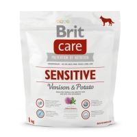 BRIT Care Sensitive Adult S-XL, Vânat cu Cartofi, hrană uscată fără cereale câini, sensibilități digestive, 1kg