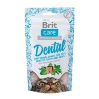 BRIT Care Snack Dental, Curcan cu Busuioc, recompense funcționale fără cereale pisici, sensibilități dentare, 50g