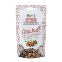 BRIT Care Snack Hairball, Rață, recompense funcționale fără cereale pisici, limitarea ghemurilor de blană, 50g