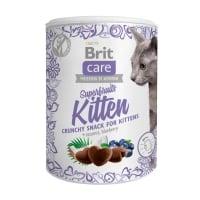 BRIT Care Snack Superfruits Kitten, Pui, recompense fără cereale pisici junior, 100g