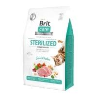 BRIT Care Sterilized Urinary Health, Pui, hrană uscată fără cereale pisici sterilizate, sensibilități urinare, 400g
