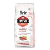 BRIT Fresh Bones & Joints Junior L-XL, Vită cu Dovleac, hrană uscată conținut redus cereale câini junior, 12kg