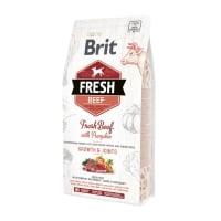 BRIT Fresh Bones & Joints Junior L-XL, Vită cu Dovleac, hrană uscată conținut redus cereale câini junior, 2.5kg