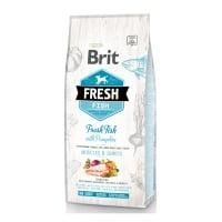BRIT Fresh Muscles & Joints Adult L-XL, Pește cu Dovleac, hrană uscată conținut redus cereale câini, 12kg