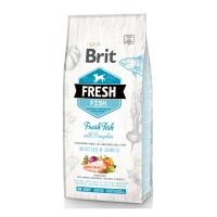 BRIT Fresh Muscles & Joints Adult L-XL, Pește cu Dovleac, pachet economic hrană uscată conținut redus cereale câini, 12kg x 2