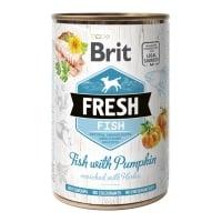 BRIT Fresh, Pește cu Dovleac, conservă hrană umedă conținut redus cereale câini, (în aspic), 400g