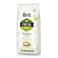 BRIT Fresh Run & Work Adult S-XL, Rață cu Mei, hrană uscată conținut redus cereale câini, activitate intensă, 12kg