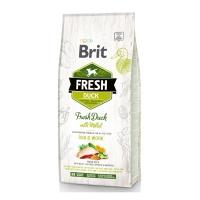 BRIT Fresh Run & Work Adult S-XL, Rață cu Mei, pachet economic hrană uscată conținut redus cereale câini, activitate intensă, 12kg x 2