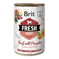 BRIT Fresh, Vită cu Dovleac, conservă hrană umedă fără cereale câini, (în aspic), 400g