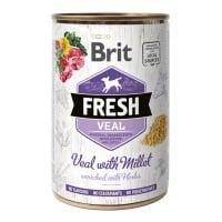 BRIT Fresh, Vițel cu Mei, conservă hrană umedă fără cereale câini, (în aspic), 400g