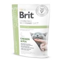 BRIT GF Veterinary Diet Diabetes, Pui cu Mazăre, dietă veterinară pisici, hrană uscată fără cereale, afecțiuni metabolice (diabet), 400g