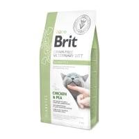 BRIT GF Veterinary Diet Diabetes, Pui cu Mazăre, dietă veterinară pisici, hrană uscată fără cereale, afecțiuni metabolice (diabet), 5kg