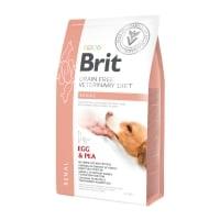 BRIT GF Veterinary Diet Renal, Ou și Mazăre, dietă veterinară câini, hrană uscată fără cereale, afecțiuni renale, 2kg