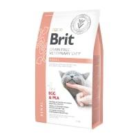 BRIT GF Veterinary Diet Renal, Ou și Mazăre, dietă veterinară pisici, hrană uscată fără cereale, afecțiuni renale, 2kg